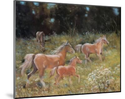 Prancing Horses-H?l?ne L?veill?e-Mounted Art Print