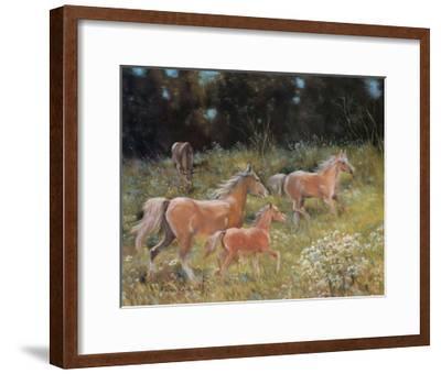 Prancing Horses-H?l?ne L?veill?e-Framed Art Print