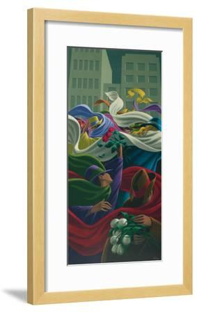 The Three Roses-Claude Theberge-Framed Art Print