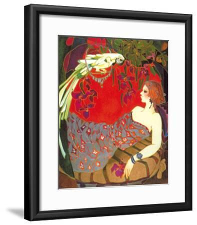 Bird on a Perch-Suzanne Laurendeau-Framed Art Print
