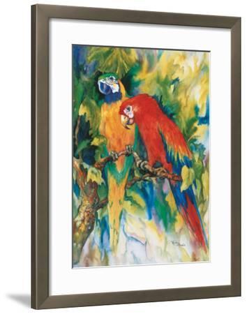 Jungle Gossip-Ren?e Mizgala-Framed Art Print