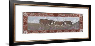 Troupeau de Vaches En Ete-Nathalie Renzacci-Framed Art Print
