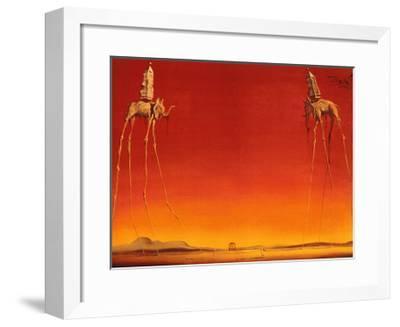 The Elephants, c.1948-Salvador Dal?-Framed Art Print