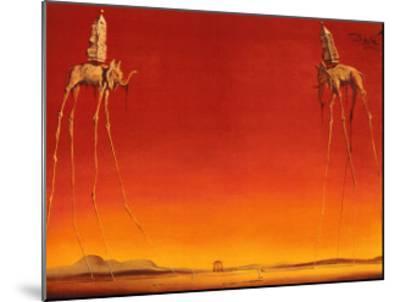 The Elephants, c.1948-Salvador Dal?-Mounted Art Print