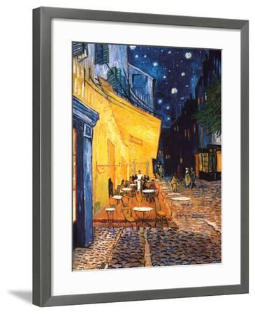 The Cafe Terrace on the Place du Forum, Arles, at Night, c.1888-Vincent van Gogh-Framed Art Print