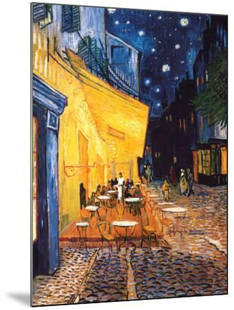 The Cafe Terrace on the Place du Forum, Arles, at Night, c.1888-Vincent van Gogh-Mounted Art Print