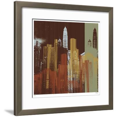 Urban Colors IV-Mj Lew-Framed Giclee Print