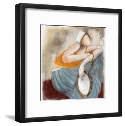 La Pose du Tambourin-Dom Dewalles-Framed Art Print