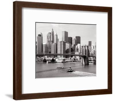 Brooklyn Bridge and Manhattan Skyline-Alan Schein-Framed Art Print