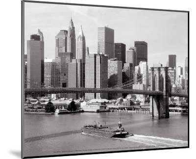 Brooklyn Bridge and Manhattan Skyline-Alan Schein-Mounted Art Print