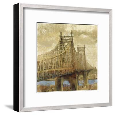 East River Bridge II-Michael Longo-Framed Art Print