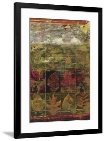 Leaves in a Row III-John Douglas-Framed Art Print