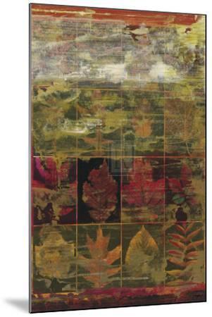 Leaves in a Row III-John Douglas-Mounted Art Print