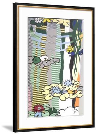 Water Lilies with Japanese Bridge-Roy Lichtenstein-Framed Art Print