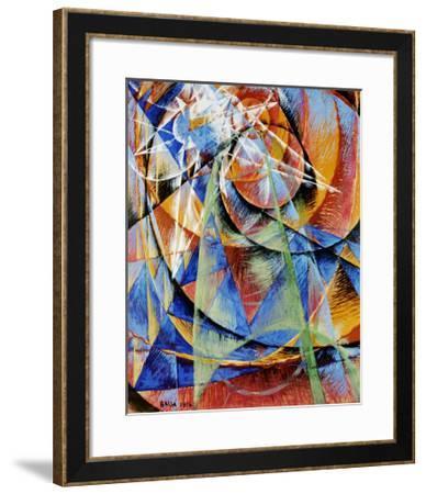 Mercury Passing Before the Sun-Giacomo Balla-Framed Art Print