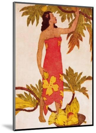 Breadfruit, Royal Hawaiian Hotel Menu Cover c.1950s-John Kelly-Mounted Art Print