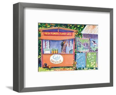 Hawaiian Lei Stand-David Gregory-Framed Art Print