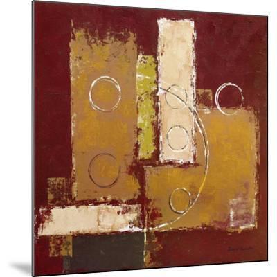 Circles on Red and Brown I-David Sedalia-Mounted Art Print