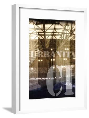 Urbanity I, Center Panel-Jean-Fran?ois Dupuis-Framed Art Print
