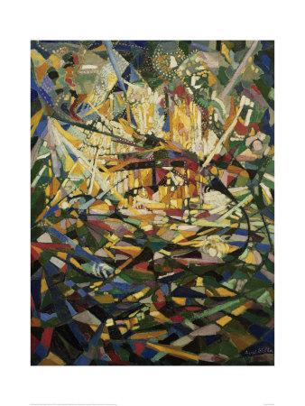 Battle of Lights, Coney Island-Joseph Stella-Art Print