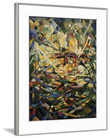 Battle of Lights, Coney Island-Joseph Stella-Framed Art Print