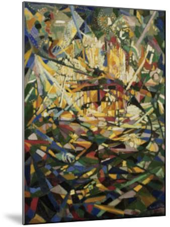 Battle of Lights, Coney Island-Joseph Stella-Mounted Art Print