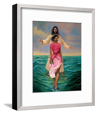 He Walks with M-Sterling Brown-Framed Art Print