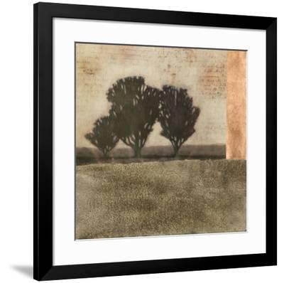 Textured Sepia Landscape II--Framed Art Print