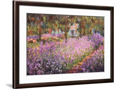 The Artist's Garden at Giverny, c.1900-Claude Monet-Framed Art Print