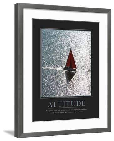 Attitude: Sailing--Framed Art Print