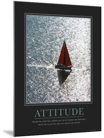 Attitude: Sailing--Mounted Art Print