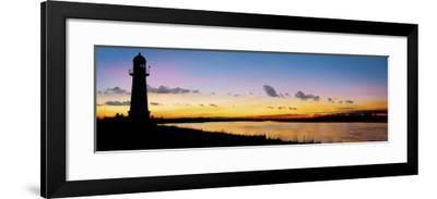 Humber Estuary Lighthouse-Ivor Innes-Framed Art Print