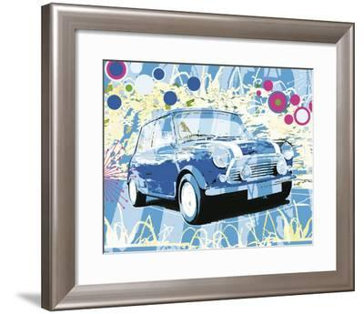Vintage Mini Cooper-Michael Cheung-Framed Art Print