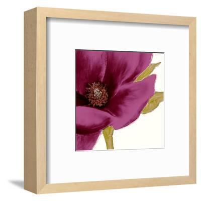 Grandiflora Blush I-Linda Wood-Framed Art Print