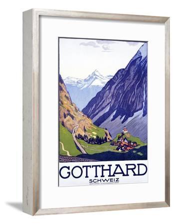 Gotthard, Schweiz-Emil Cardinaux-Framed Art Print