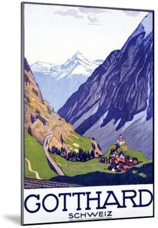 Gotthard, Schweiz-Emil Cardinaux-Mounted Art Print
