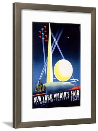 New York World's Fair, World of Tomorrow-Joseph Binder-Framed Art Print