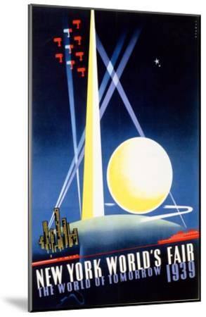 New York World's Fair, World of Tomorrow-Joseph Binder-Mounted Art Print