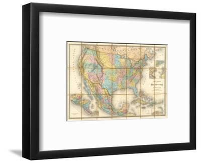 Carte Generale Des Etats, c.1865-Eugene Andriveau-goujon-Framed Art Print