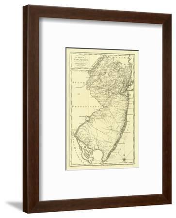 State of New Jersey, c.1795-Mathew Carey-Framed Art Print