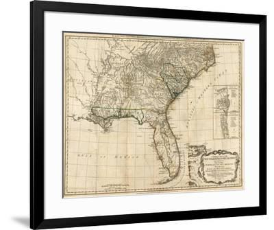General Map of the Southern British Colonies, in America, c.1776-Robert Sayer-Framed Art Print