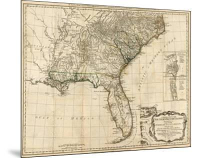 General Map of the Southern British Colonies, in America, c.1776-Robert Sayer-Mounted Art Print