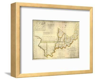 The State of Indiana, c.1817-W^ Shelton-Framed Art Print