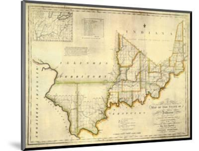 The State of Indiana, c.1817-W^ Shelton-Mounted Art Print
