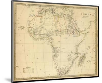Africa, c.1839--Mounted Art Print
