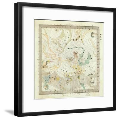 Celestial Anno 1830: No. 5. Circumjacent the North Pole, c.1844--Framed Art Print