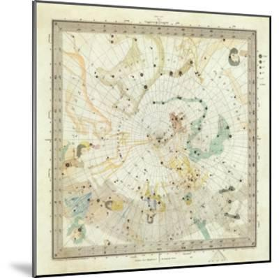 Celestial Anno 1830: No. 5. Circumjacent the North Pole, c.1844--Mounted Art Print