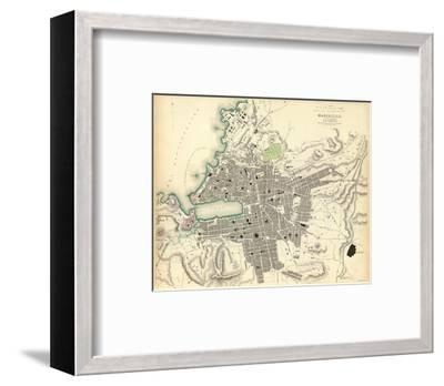 Marseille, France, c.1840--Framed Art Print