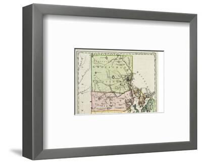 Rhode Island, c.1797-Daniel Friedrich Sotzmann-Framed Art Print