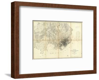 City of San Francisco and Its Vicinity, California, c.1859--Framed Art Print